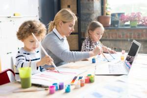 """Kreativer online Malkurs für Kinder """"Glückliche Tiere"""""""