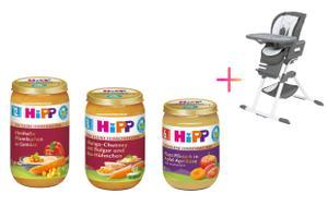 """HiPP """"Für Kleine Feinschmecker"""" und Hochstuhl von Joie"""