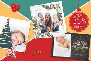 35% Rabatt auf deine Weihnachtskarten