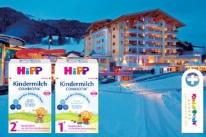 HiPP Kindermilch COMBIOTIK® und KinderHotels Europa sorgen für großen Familien-Urlaubsspaß