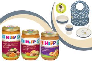 HiPP Feinschmecker und LÄSSIG Kindergeschirr Set + Lätzchen