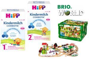 HiPP Kindermilch COMBIOTIK® und BRIO World Set Deluxe