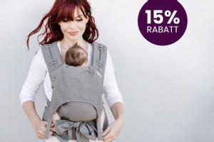 Wir schenken dir 15% Rabatt auf deine Fidella Babytrage