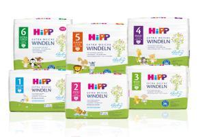 HiPP Babysanft Extra Weiche Windeln zusammen mit Joie Verso Autokindersitz