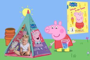 Peppa Pig Set bestehend aus DVD und Spiel-Tipi für Kinder
