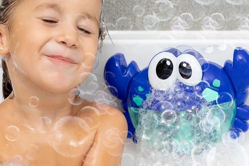 InnovaGoods Badespielzeug Seifenblasen-Krabbe mit Musik