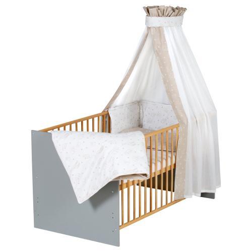 Schardt Babybett mit Ausstattung Classic Grey 70x140 cm