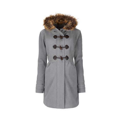 2hearts Cosy & Wild Umstands-Mantel Romantic Duffle Coat mit Fake Fur